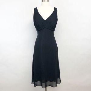 adrianna papell | sleeveless v-neck midi dress 12